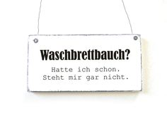 WASCHBRETTBAUCH Dekoschild Holzschild Vintage  von DöRPKIND auf www.doerpkind.de
