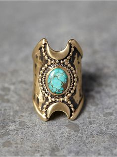 Free People Crescent Moons Ring, $158.00