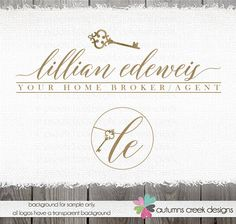 real estate logo  Home selling logo  broker agent by autumnscreek