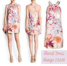 Friday Frock O'clock: a pretty floral racer back short dress from Mango