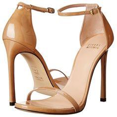 Stuart Weitzman Nudist High Heels ($398) ❤ liked on Polyvore featuring shoes, sandals, heels, high heel shoes, special occasion sandals, holiday shoes, stuart weitzman sandals and leather sole shoes
