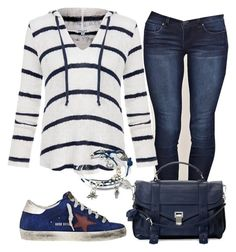 """""""Desportivo"""" by alice-fortuna on Polyvore featuring YMI, Splendid, Proenza Schouler, Golden Goose and Lizzy James"""
