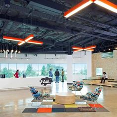 Palo Alto offices of internet services company AOL, designed by San Francisco designers Studio O+A.