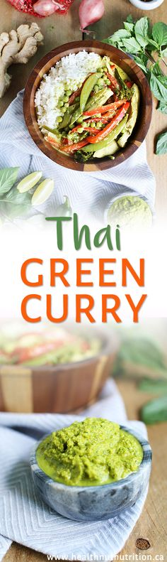 A flavourful healthy and authentic tasting Thai green curry dish with a DIY curry paste blended with all the right spices and flavours pulled together with coconut milk and served on rice in under 30 min! Asian Recipes, Beef Recipes, Real Food Recipes, Thai Recipes, Sauce Recipes, Yummy Food, Thai Green Curry Recipes, Homemade Curry, Curry Dishes