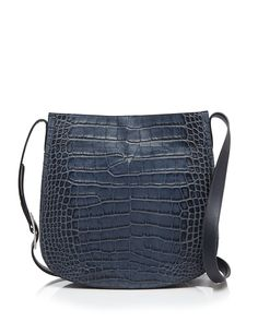Vince Shoulder Bag - Signature Croc-Stamped Saddle | Bloomingdale's