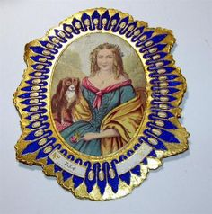 VTG-ANTIQUE-EMBOSSED-VICTORIAN-DIE-CUT-PAPER-SCRAP-1890S-FABRIC-LABEL-GOLD-FRAME$23