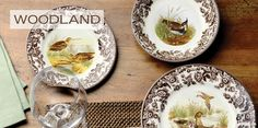 Introduced in the US in the 1990's, #Spode Woodland's designs are rooted in the traditions of hunting for game and its elaborate presentation on the table.