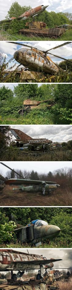The rusting relics of the abandoned Motor Technica Museum at Bad Oeynhausen in Germany