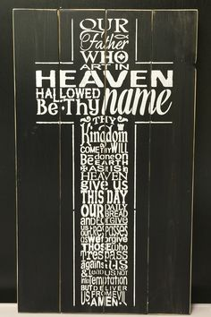 Lord's Prayer Sign   Be sure to sign up for our sales alerts!  – Signs of Vinyl