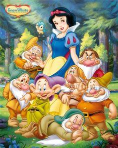 Disney Princesse Blanche-Neige et les sept nains Regular Children's Cartoon Poster 40 x 50 cm: Amazon.fr: Cuisine & Maison