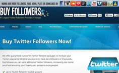 We offer guaranteed number of Twitter follower packages to increase your Twitter popularity! Whether you currently have zero followers or thousands, BuyFollowers.eu can send additional Twitter followers, increasing your social proof and ensuring your twitter followers facebook fans facebook likes instagram followers google plus followers tumblr followers pinterest followers vimeo views soundcloud plays