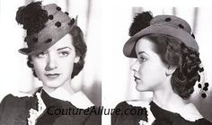 Couture Allure Vintage Fashion: Vintage Hats from the 1930s