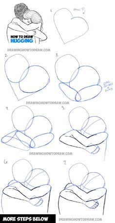 How to Draw Two People Hugging : Drawing Hugs Step by Step Drawing Tutorial - Pi. - How to Draw Two People Hugging : Drawing Hugs Step by Step Drawing Tutorial – Pinehouse – How - Drawing Lessons, Drawing Techniques, Drawing Tips, Drawing Sketches, Drawing Ideas, Drawing Art, Sketching, Drawing Poses, Drawing Reference