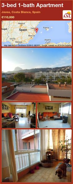 Three bed apartment for sale in Javea port, recently reduced from €, located on the third floor with lift. Balcony Close to amenities Countryside view Lift Off-road parking Open view Roof terrace Window shutters Window Shutters, Three Floor, Murcia, Apartments For Sale, Seville, Malaga, Countryside, Terrace, Costa