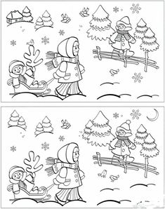 Christmas Crafts For Kids, Christmas Colors, Holiday Games, Christmas Drawing, Preschool Worksheets, Drawing For Kids, Pre School, Coloring Pages, Colouring