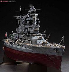 IJN NAGATO 1 Scale Model Ships, Scale Models, Plastic Model Kits, Plastic Models, Yamato Battleship, Model Warships, Leyte, Imperial Japanese Navy, Model Hobbies