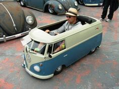 .VW Van pedal car - my husband says it's probably just a little bit faster than a real VW van:)