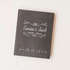 Wedding Guest Book Wedding Guestbook Custom Guest Book Personalized chalkboard guest book rustic wedding chalkboard keepsake gift chalk book by starboardpress on Etsy https://www.etsy.com/listing/224246707/wedding-guest-book-wedding-guestbook
