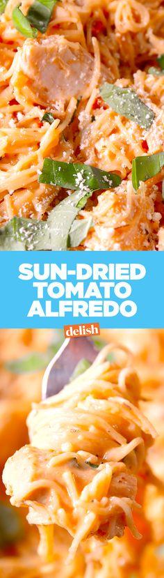 Sun dried tomato Alfredo