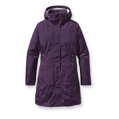 Patagonia Women's Torrentshell City Coat - Built for wet-weather commuting, this packable, urban raincoat is made of Performance Standard lightweight nylon with a waterproof/breathable barrier and DWR (durable water repellent) finish. Raincoats For Women, Jackets For Women, City Rain, Pink Raincoat, Patagonia Outdoor, Outdoor Outfit, Get Dressed, Casual, How To Wear