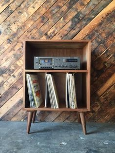 Mid Century Style Mini Credenza Record Stand by TheHuntVintageLA