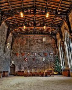"Great Hall, Caerphilly Castle - Wales (Where we took pictures with actors from ""Merlin"")"