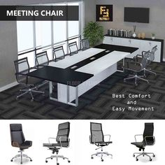 Buy best meeting chair online in UAE. Shop now high quality conference room chairs at best price. Very comfortable meeting room chairs for long meetings. Unique Furniture, Online Furniture, Conference Room Chairs, Office Chairs Online, Workspace Design, 2nd Floor, Flooring, Dubai Uae, Table