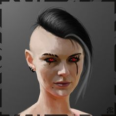 ArtStation - Red Eyes, Emilia McLean
