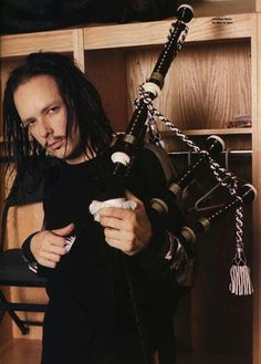 Jonathan Davis from Korn with his bagpipes