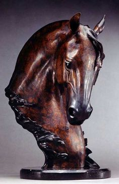 "dondiego Jan Van Ek bronze spanish horse [ ""Equine sculpture - Don Diego by Jan Van Eck"" ] # # # # # # # # # # Tree Carving, Wood Carving Art, Wood Art, Horse Sculpture, Animal Sculptures, Bronze Sculpture, Horse Head, Horse Art, Horse Horse"
