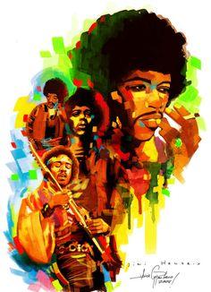 Jimi Hendrix by javierGpacheco