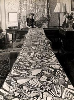 madge gill drawing on calico