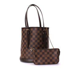 Louis Vuitton Marais Damier Ebene Shoulder bags Brown Canvas N42240