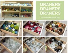 Wonderful post about how to organize Montessori practical life materials and containers! I so needed this post!