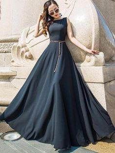 fashion dresses 2018 Long Sleeve Gold Prom Dresses,Long Evening Dresses,Prom Dresses On Sale Want a glamorous red carpet look for a fraction of the price? This exquisite dress would be Indian Gowns Dresses, Indian Fashion Dresses, Evening Dresses, Dress Fashion, Woman Dresses, Fasion, Stylish Dresses For Girls, Stylish Dress Designs, Casual Dresses