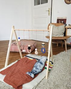 A handmade baby gym for our little bear