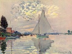 Claude Monet-  What is that sky color?? (diamond, pearl, hollow white candle glow)