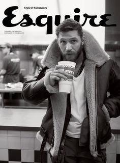 Tom Hard rocking a mean beard on the cover of Esquire.