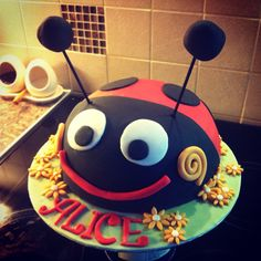 Gaston the ladybird (Ben and Holly) cake