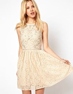 ASOS Lace Skater Dress With Embellishment