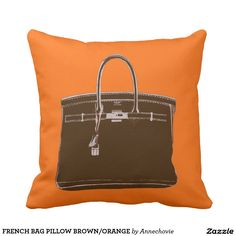 FRENCH BAG PILLOW BROWN/ORANGE