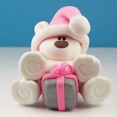 Clay Christmas Bear