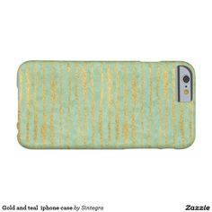 Gold and teal  iphone case