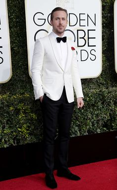 Ryan Gosling from Best Dressed at Golden Globes 2017  Watch: We will see many, many white tuxedo jackets grace the red carpet from now on.