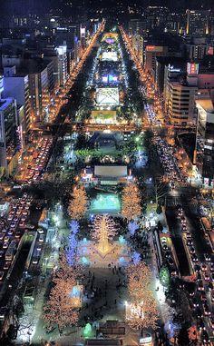 Sapporo's Odori Park - Japan