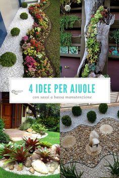 Idee giardino fai da te aiuola con sassi o blocchi for Aiuole giardino con sassi