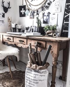 My rustic vintage workspace / office