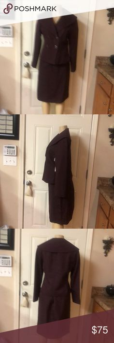 2 piece skirt suit 2 piece skirt suit double breasted long sleeve J. Rose Suit Other