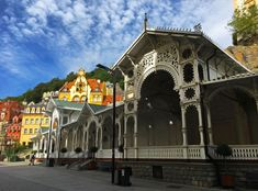 Karlovy Vary, aka Karlsbad in German, might not be the most beautiful or interesting city in Europe. Czech Beer, Motorcycle Adventure, Outdoor Stage, Best Spa, Cities In Europe, Hotel Spa, Old Town, Denmark, Big Ben