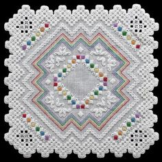 Rainbow Delight (Hardanger embroidery)